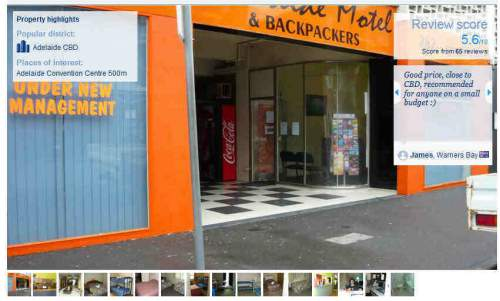 Adelaide motel backpackers Adelaide Back Packing