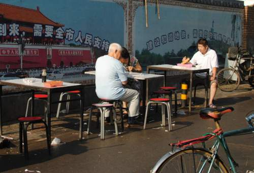 Beijing Street Food Stand tables