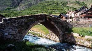 bridge Pyrenees village France