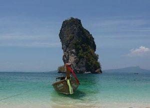 krabi beach boat