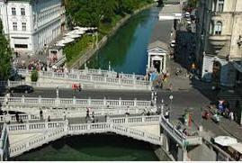 the tripple bridge Slovenia