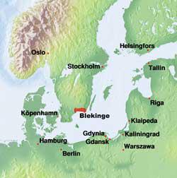 Map Blekinge