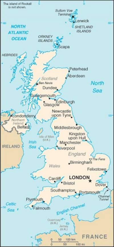 U K Map Great Britain