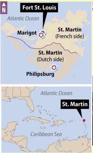St Maarten Map St Martin Island
