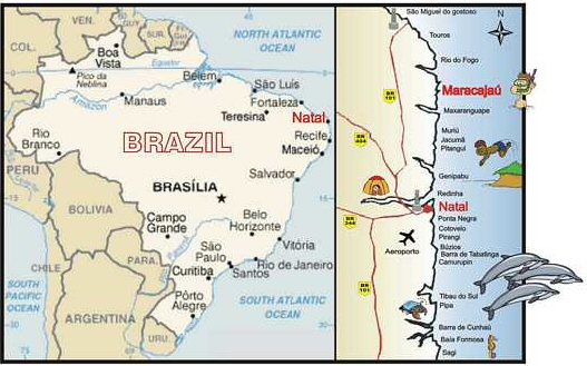 location Map Brazil