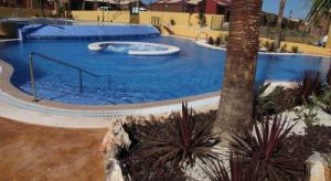 pool at retirment home complex